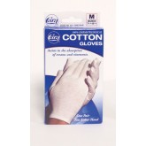 Cara Incorporated Cotton Gloves - White Medium (Pair) Fits 7-1/2  - 8-1/2