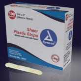 Dynarex Corporation Adhesive Bandages Sheer Strips 3/8 x1-1/2  Sterile  Bx/100