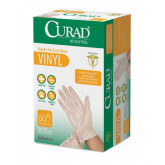 MEDLINE CURAD Powder-Free Vinyl Exam Gloves - CA Only,Clear,One Size Fits Most 24 EA / CS