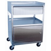 Ideal Medical Products Inc Stainless Steel Cabinet Cart W/ Drawer