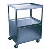 Ideal Medical Products Inc Cabinet Cart  St/S 2-Shelf Single Locking