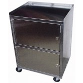 Ideal Medical Products Inc Cabinet Cart 3-Shelf  St/S Dual Locking