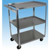 Ideal Medical Products Inc Stainless Steel Cart  3 Shelf w/Handle