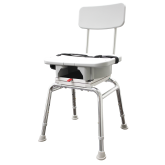Eagle Health Supplies Inc Snap-N-Save Swivel Shower Chair with Replaceable Cut Out Seat