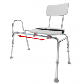 Eagle Health Supplies Inc Sliding Transfer Bench with Replaceable Cut-Out (Extra Long)