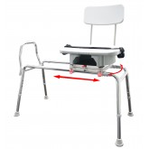Eagle Health Supplies Inc Snap-N-Save Sliding Transfer Bench with Replaceable Cut Out Swivel Seat (Extra Long)