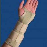 Orthozone Wrist Forearm Splint  Medium Left  6 1/2  - 7 1/2   Beige
