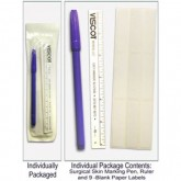 Precision Dynamics Skin Marking Pen w/ 9 Labels & 6  Flxble Ruler Sterile