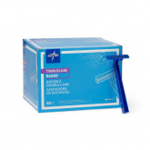 MEDLINE Disposable Twin Blade Facial Razor,Blue 50 EA / BX
