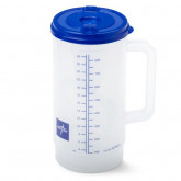 MEDLINE Insulated Carafes,Clear W/Blue Lid,32.000 OZ 1 EA / EA