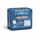 MEDLINE FitRight Super Protective Underwear,Medium 20 EA / BG