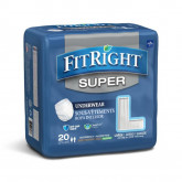 MEDLINE FitRight Super Protective Underwear,Large 20 EA / BG