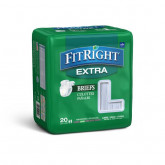 "MEDLINE FitRight Extra Incontinence Briefs,48""-58"" 80 EA / CS"