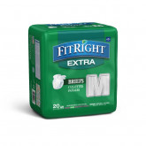"MEDLINE FitRight Extra Incontinence Briefs,32""-42"" 80 EA / CS"