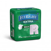 "MEDLINE FitRight Extra Incontinence Briefs,40""-50"" 80 EA / CS"