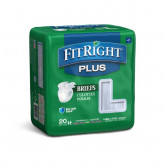 "MEDLINE FitRight Plus Incontinence Briefs,48""-58"" 20 EA / BG"