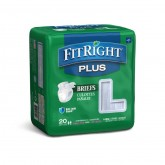 "MEDLINE FitRight Plus Incontinence Briefs,48""-58"" 80 EA / CS"