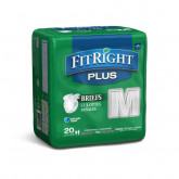 "MEDLINE FitRight Plus Incontinence Briefs,32""-42"" 20 EA / BG"