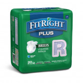 "MEDLINE FitRight Plus Incontinence Briefs,40""-50"" 20 EA / BG"