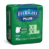 "MEDLINE FitRight Plus Incontinence Briefs,60""-69"" 20 EA / BG"