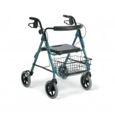 "MEDLINE Guardian Deluxe Rollators with 8"" Wheels,Blue,8"" 1 EA / EA"