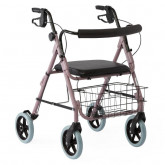 "MEDLINE Guardian Deluxe Rollators with 8"" Wheels,Red,8"" 1 EA / EA"
