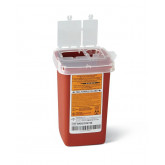 MEDLINE Phlebotomy Sharps Containers,Red,1.000 QT 100 EA / CS