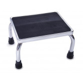 MEDLINE Chrome Footstool with Rubber Mat 1 EA / EA