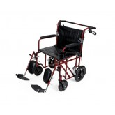 MEDLINE Freedom Plus Lightweight Bariatric Transport Chair,Red,F: 8   R: 12 1 Each / Each