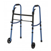 "MEDLINE Folding Paddle Walkers with 5"" Wheels,Blue,5"" 1 EA / CS"
