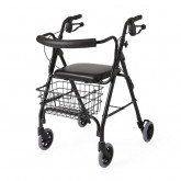 "MEDLINE Deluxe Rollators,Black,6"" 1 EA / CS"