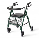 "MEDLINE Deluxe Rollators,Green,6"" 1 EA / CS"