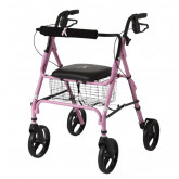 "MEDLINE Rollators with 8"" Wheels,Pink,8"" 1 EA / CS"