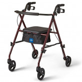 "MEDLINE Basic Steel Rollators,Burgundy,6"" 1 EA / EA"