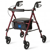 "MEDLINE Ultralight Rollators,Burgundy,6"" 1 EA / EA"