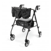 "MEDLINE Stealth Rollator,Black,7"" 1 EA / EA"