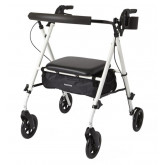"MEDLINE Luxe Rollator,White,7"" 1 EA / EA"