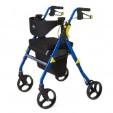 "MEDLINE Empower Rollator,Blue,8"" 1 EA / EA"