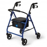 "MEDLINE Basic Steel Rollators,Blue,6"" 1 EA / EA"
