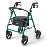 "MEDLINE Basic Steel Rollators,Green,8"" 1 EA / EA"