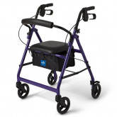 "MEDLINE Basic Rollators,Purple,6"" 1 EA / EA"