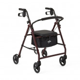 "MEDLINE Basic Rollators,Burgundy,6"" 1 EA / EA"