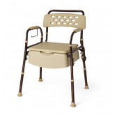 MEDLINE Bedside Commode with Microban 1 EA / CS