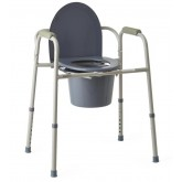 MEDLINE Steel Bedside Commode 4 Each / Case