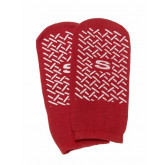 MEDLINE Single-Tread Slippers,Red,S 1 PR / PR