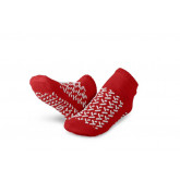 MEDLINE Double-Tread Slippers,Red,S 1 PR / PR