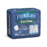 MEDLINE FitRight Extra-Protection Adult Incontinence Underwear,Medium 20 EA / BG