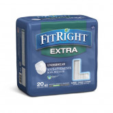 MEDLINE FitRight Extra-Protection Adult Incontinence Underwear,Large 20 EA / BG