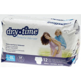 MEDLINE DryTime Disposable Protective Youth Underwear,Large/X-Large 48 EA / CS