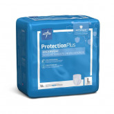 MEDLINE Protection Plus Superabsorbent Adult Underwear,Large 18 EA / BG